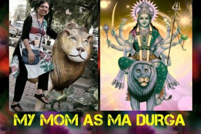 My mom as Ma Durga