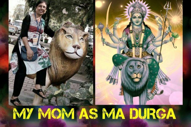 My mom as Ma Durga