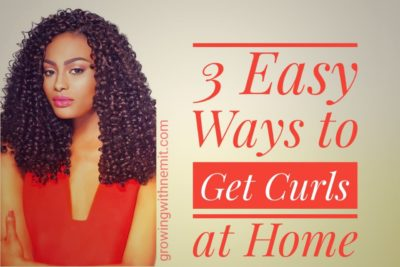 3 Easy Ways to Get Curls at Home