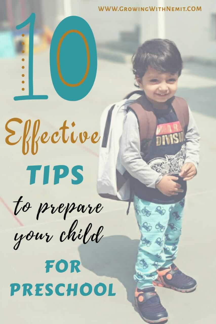 10 Best Tips to Prepare your Child for Preschool