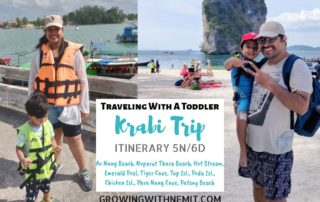 Krabi Trip Itinerary - Traveling with a toddler