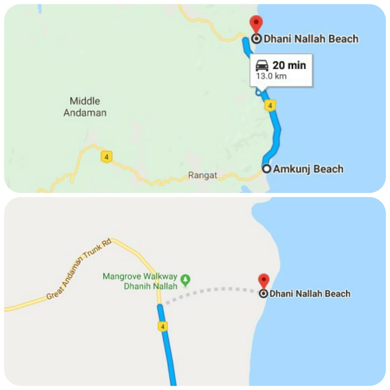 Amkunj to Dhani Nallah Beach and Dhani Nallah walkway to Beach