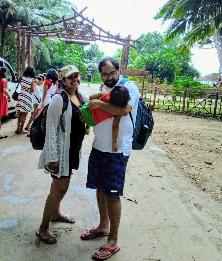 Bus ride to Radhanagar Beach