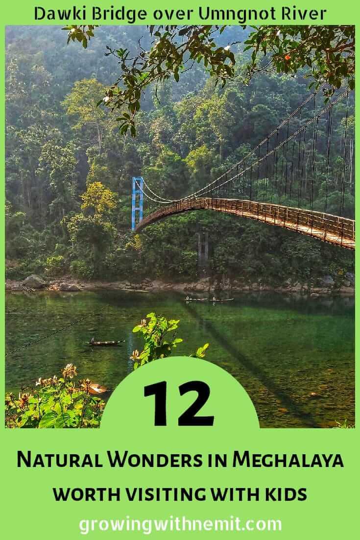 Dawki Bridge over Umngnot River, Dawki