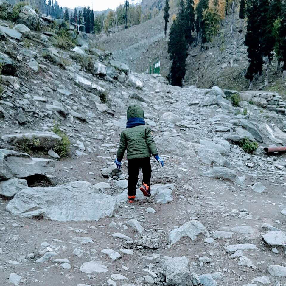 Nemit trekking to the glacier