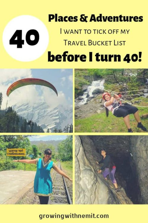 Travel bucket list - Pin