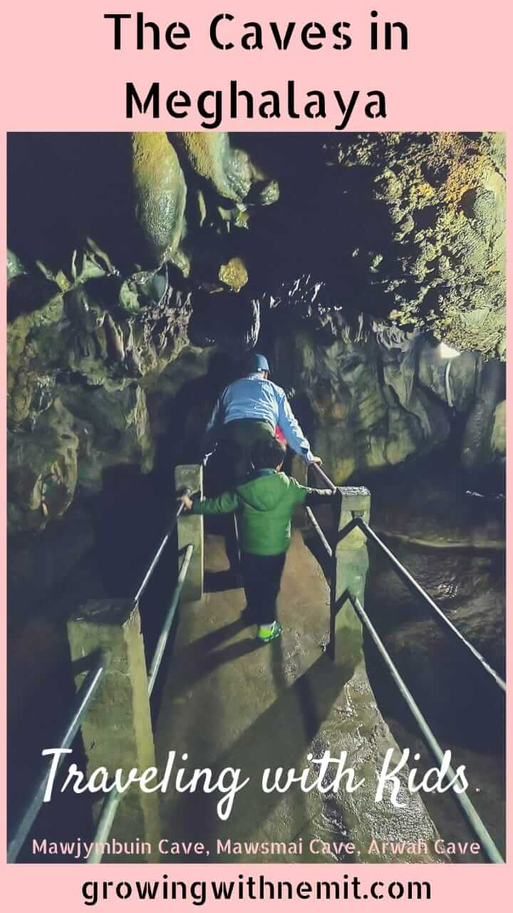 Exploring the caves with our toddler