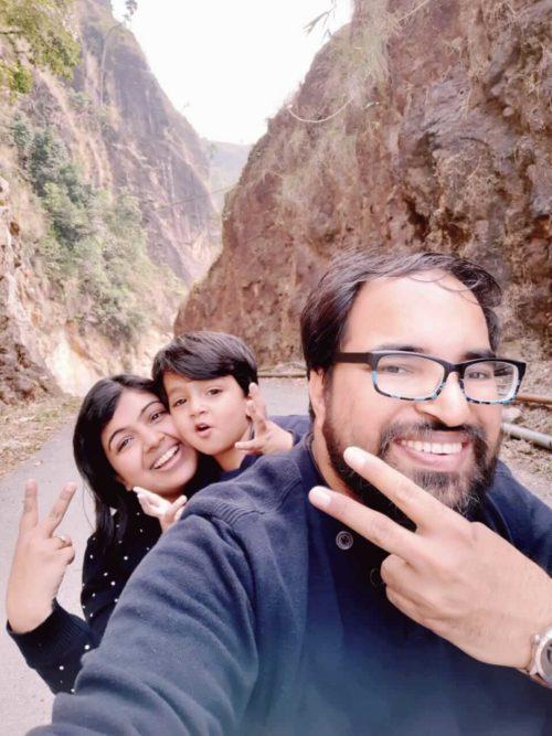 Family Selfie at Khreng Khreng Waterfall