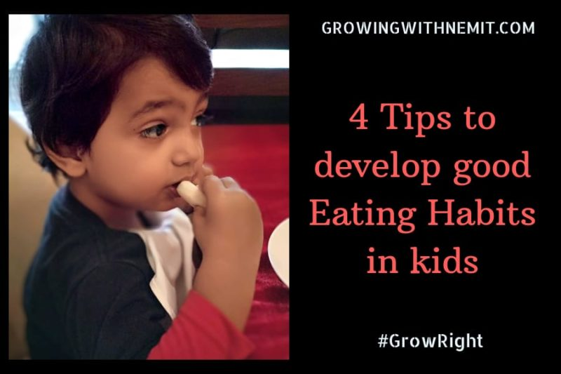 How to develop good eating habits in kids?