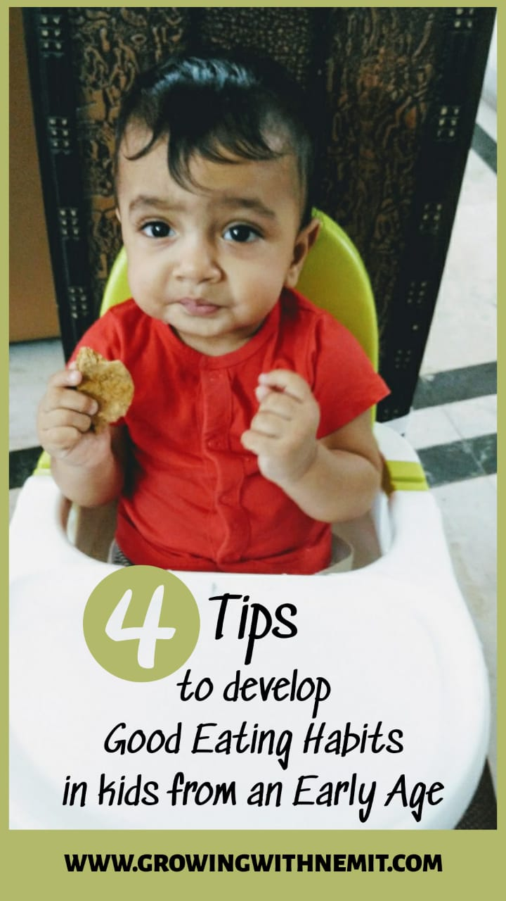 4 Tips to develop good eating habits in kids from an early age #goodeatinghabits #nutrition #pickyeater