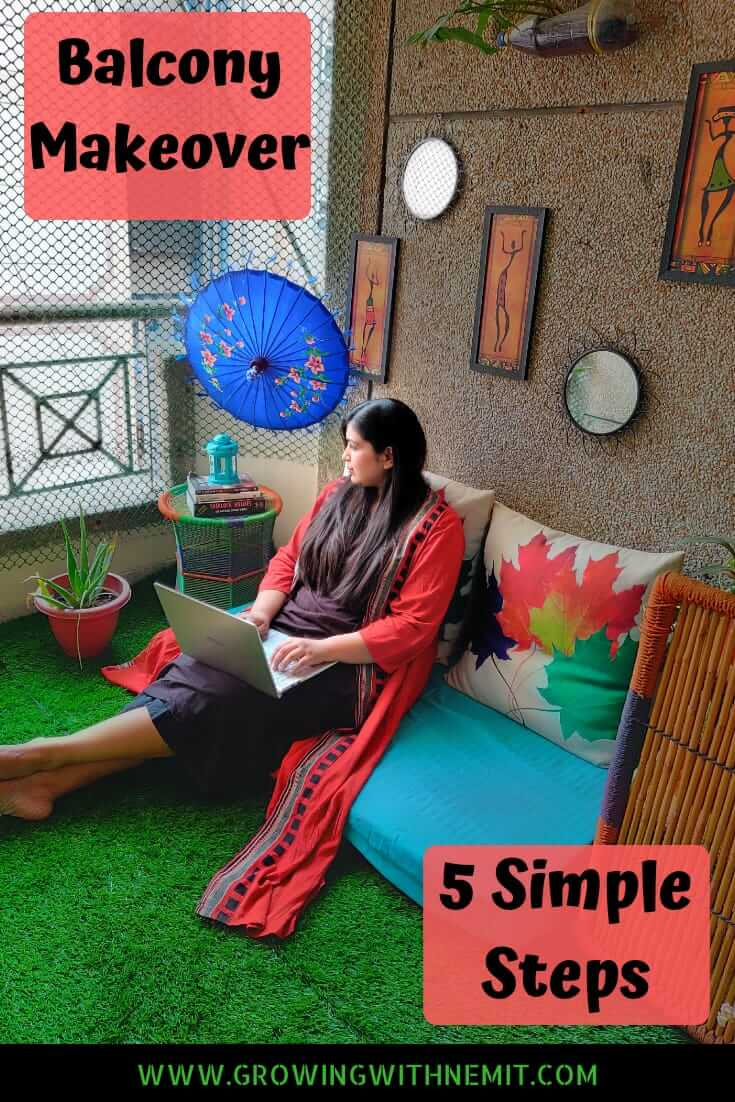 Balcony garden/ Balcony makeover in 5 simple steps