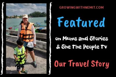 It is always a pleasure to share our story with people who are interested in knowing it & that's how we got featured on Mums and Stories blog. #feature #travelmom #travelstory #travelerfamily