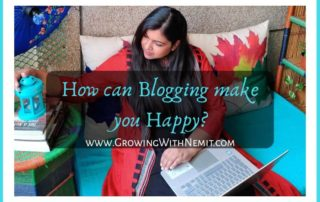I don't often write about blogging even though I get as many queries as I get for parenting. But, I can tell you one thing that Blogging can make you Happy!