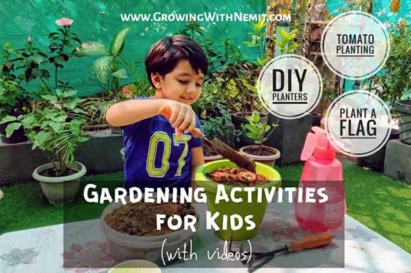 Do you know garden activities can help reduce stress in children and improve their concentration? Here are some very easy gardening activities for kids.