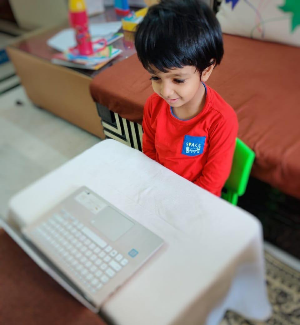 Attending online class