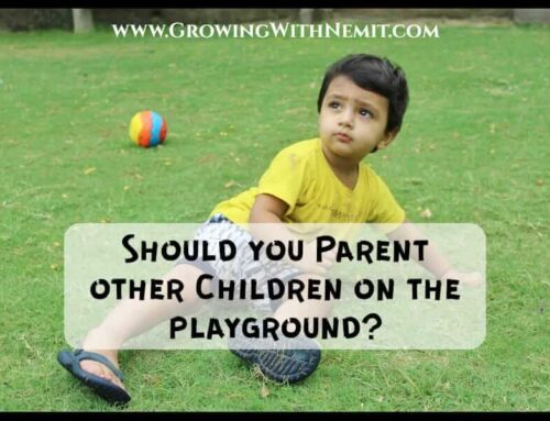 Should you parent other children on the playground?