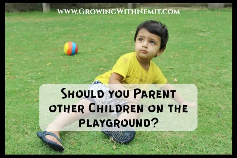 As a parent, what do you do when you see a child misbehaving on the playground? Should you parent other children? Here are ways to handle such situations.