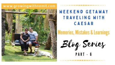 We had no idea what traveling with caesar would feel like.I admit, it was not a perfect trip but, it is still our most memorable trip with our fur baby.