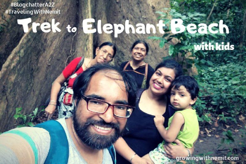 Elephant Beach - Trek with kids in Havelock Island