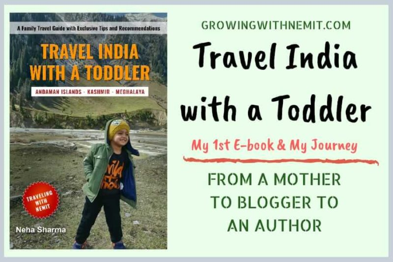 Travel India with a Toddler, my first e-book and my journey from a Mother to Blogger to an Author