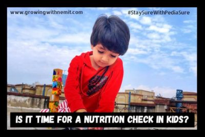 check nutrition in Indian kids