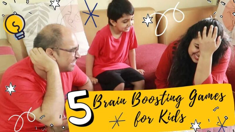 If you are worried that your kids are always glued in front of the screen then this post is for you. Check out these 5 Brain Boosting Games for Kids.