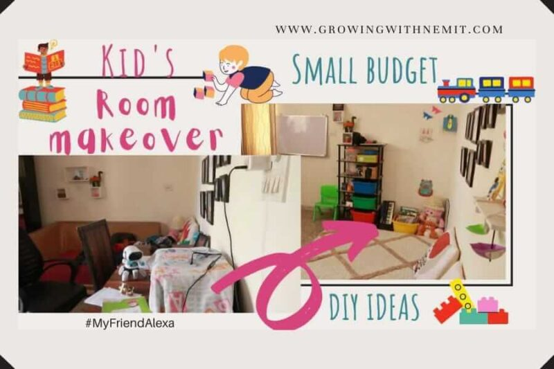 In this post, I have shared how we managed to do our Kid's Room Makeover on a Budget. And, along with that, I also shared a few DIY Decor Ideas.